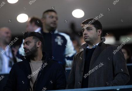 QPR chairman Amit Bhatia with QPR director Jamie Reuben, infront of QPR Co-Chairman Ruben Gnanalingam