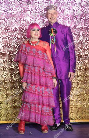 Zandra Rhodes and Andrew Logan