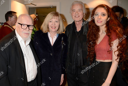 Stock Photo of Sir Peter Blake, Chrissie Blake, Jimmy Page and Scarlett Sabet