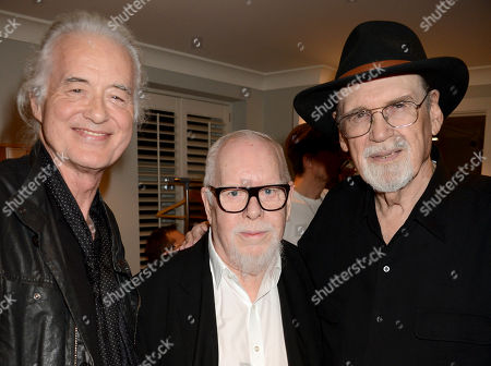 Stock Picture of Jimmy Page, Sir Peter Blake and Duane Eddy