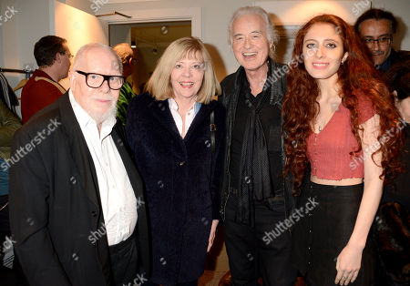 Sir Peter Blake, Chrissie Blake, Jimmy Page and Scarlett Sabet