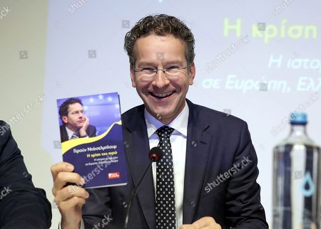 Editorial photo of Jeroen Dijsselbloem presents Greek edition of his book titled The Euro Crisis in Athens, Greece - 23 Oct 2018