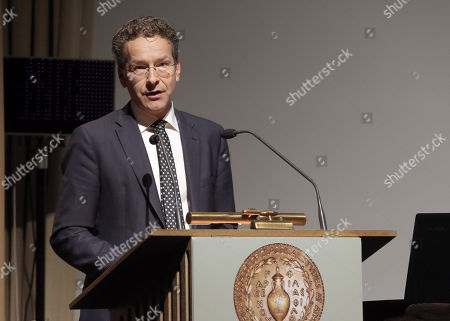 Editorial picture of Jeroen Dijsselbloem presents Greek edition of his book titled The Euro Crisis in Athens, Greece - 23 Oct 2018