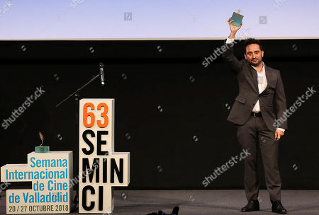 Juan Antonio Bayona receives an Espiga de Honor Award during the Seminci International Film Festival, in Valladolid, Spain, 23 October 2018. The 63rd Seminci Film Festival takes place from 20 to 27 October.