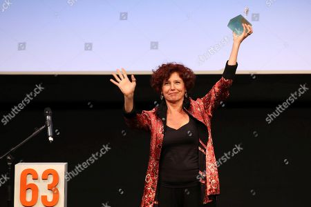 Iciar Bollain receives an Espiga de Honor Award during the Seminci International Film Festival, in Valladolid, Spain, 23 October 2018. The 63rd Seminci Film Festival takes place from 20 to 27 October.