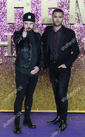 British duo Royal Blood members Mike Kerr (R) and Ben Thatcher attend the world premiere of 'Bohemian Rhapsody' in London, Britain, 23 October 2018. The movie opens across UK theaters on 24 October.