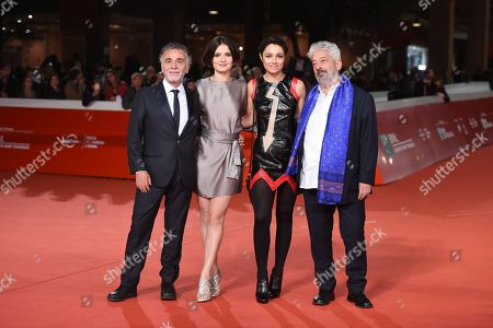 Stock Photo of The directors Mario Tronco and Gianfranco Cabiddu with Violetta Zironi and Petra Magoni