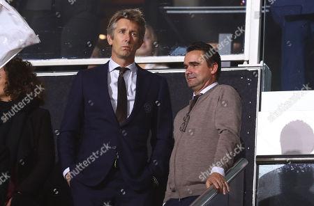 Ajax chief executive officer Edwin van der Sar and director of football Marc Overmars