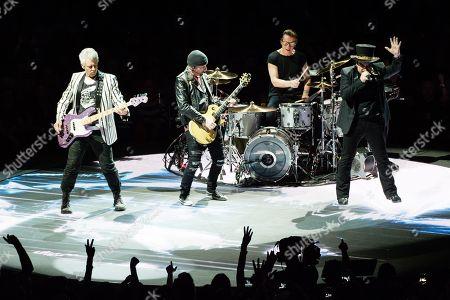 U2 - Bono, Adam Clayton, The Edge, Larry Mullen Jr
