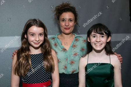 Grace Doherty (Hedwig Ekdal), Lyndsey Marshal (Gina Ekdal) and Clara Read (Hedwig Ekdal)