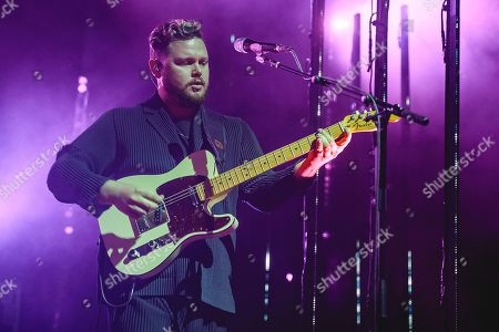 Editorial photo of Alt-J in concert at Leeds Town Hall, UK - 23 Oct 2018