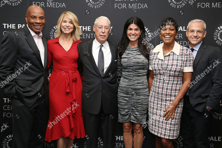 Tony Harris, Paula Zahn, Henry S. Schleiff (Group Pres; ID), Maureen J. Reidy (Pres & CEO; Paley Center for Media), Tamron Hall and Jess Cagle