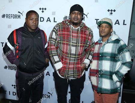 Jadakiss, Sheek Louch, Styles P. Rap group The Lox left Jadakiss, Sheek Louch and Styles P arrives at the fourth annual TIDAL X: Brooklyn at Barclays Center, in New York