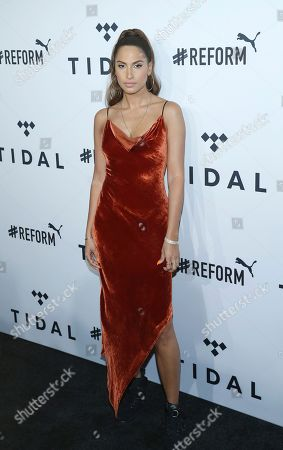 Snoh Aalegra arrives at the fourth annual TIDAL X: Brooklyn at Barclays Center, in New York