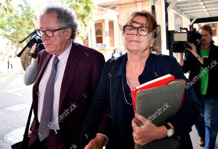 Editorial photo of Australian actor Geoffrey Rush at Federal Court in Sydney, Australia - 24 Oct 2018