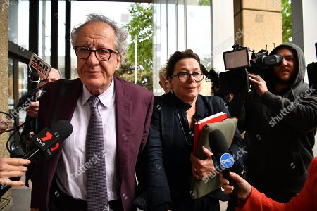 Editorial image of Australian actor Geoffrey Rush at Federal Court in Sydney, Australia - 24 Oct 2018
