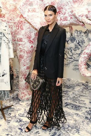 Australian singer and model Erin Holland attends a preview of the Christian Dior Couture Cruise 2019 Collection in Sydney, Australia, 24 October 2018.
