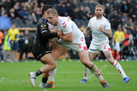 George Burgess of England on the attack