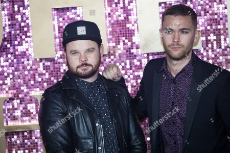 Ben Thatcher, Mike Kerr of Royal Blood. Ben Thatcher and Mike Kerr of Royal Blood pose for photographers upon arrival at the world premiere of the film 'Bohemian Rhapsody' in London