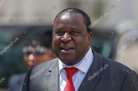 South African newly-appointed Finance Minister Tito Mboweni arrives to deliver the mid-term budget statement at parliament, Cape Town, South Africa, 24 October 2018. South African President Cyril Ramaphosa appointed Mboweni two weeks ago following Nhlanhla Nene's resignation.