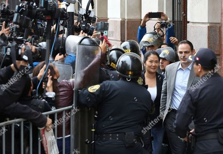 Keiko Fujimori, Mark Vito. Keiko Fujimori, the daughter of Peru's former President Alberto Fujimori, and leader of the opposition party, arrives with her husband Mark Vito, to attend a hearing where prosecutor are asking for 36 months of preventive detention for the alleged crime of money laundering, in Lima, Peru, . She remains under investigation over some $1.2 million in undeclared financial contributions to her 2011 presidential campaign that were allegedly made by Odebrecht, the Brazilian construction firm at the heart of Latin America's largest-ever graft scandal
