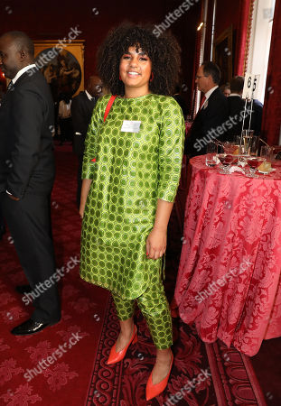 Winner of The Voice in 2018, Ruti Olajugbagbe at a reception to mark the upcoming tour to Gambia, Ghana and Nigeria at St James Palace
