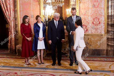 Ana Carrasco, King Felipe VI of Spain, Queen Letizia, Frank-Walter Steinmeier and Elke Budenbender