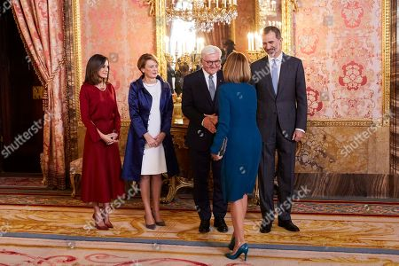 Maria Dolores de Cospedal, King Felipe VI of Spain, Queen Letizia, Frank-Walter Steinmeier and Elke Budenbender