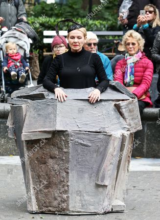 Editorial image of Dianne Wiest performs 'Passing by Samuel Beckett', Madison Square Park, New York, USA - 24 Oct 2018