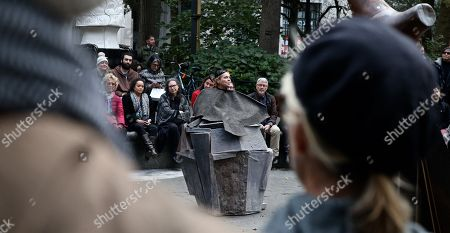 Editorial photo of Dianne Wiest performs 'Passing by Samuel Beckett', Madison Square Park, New York, USA - 24 Oct 2018