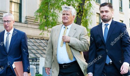 Former New York state Senate Majority Leader Dean Skelos (C) arrives for a sentencing hearing on public corruption charges at the Manhattan federal court house in New York, New York, USA, 24 October 2018. Skelos was sentenced to four years and three months in prison after being convicted in July on federal corruption charges which included soliciting bribes and defrauding the public.