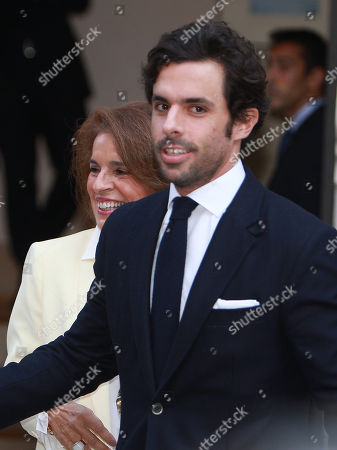 Ana Botella, wife of Jose Maria Aznar and his son Alonso Aznar Botella