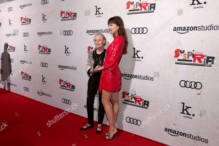 Tippi Hedren and Dakota Johnson