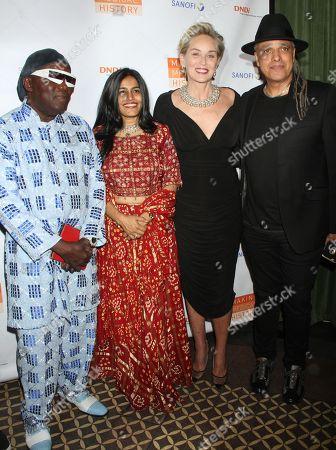 Stock Image of Foday Musa Suso, Falu Shah, Sharon Stone, Mino Cinelu