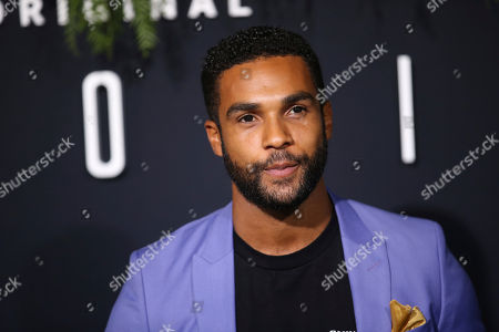 "Lucien Laviscount arrives at the Los Angeles premiere of ""Homecoming"", in Los Angeles, CA"