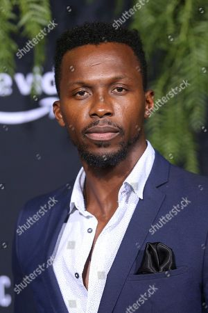 "Stock Image of Emmanuel Kabongo arrives at the Los Angeles premiere of ""Homecoming"", in Los Angeles, CA"