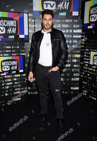 Joey Zauzig attends the Moschino x H&M fashion show at Pier 36, in New York