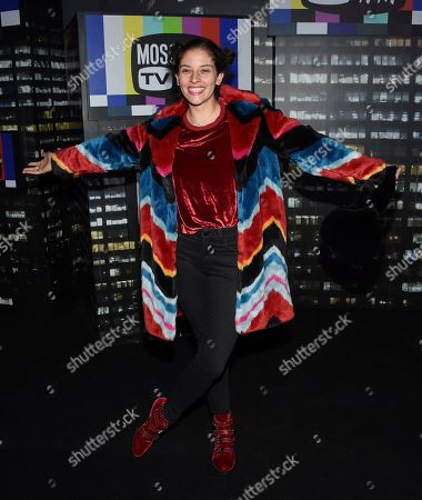 Flour Shop founder Amirah Kassem attends the Moschino x H&M fashion show at Pier 36, in New York