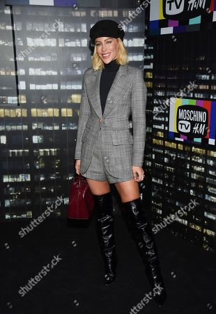 Mary Lawless Lee attends the Moschino x H&M fashion show at Pier 36, in New York
