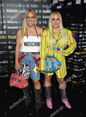 Cailli Beckerman, Sam Beckerman. Cailli Beckerman and Sam Beckerman attend the Moschino x H&M fashion show at Pier 36, in New York