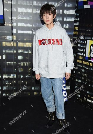 Roy Wang attends the Moschino x H&M fashion show at Pier 36, in New York