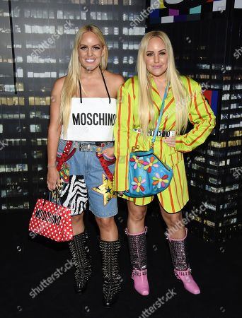 Stock Image of Cailli Beckerman, Sam Beckerman. Cailli Beckerman and Sam Beckerman attend the Moschino x H&M fashion show at Pier 36, in New York
