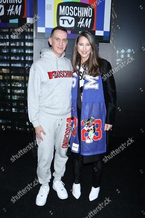 Stock Image of Jeremy Scott and Ann-Sofie Johansson