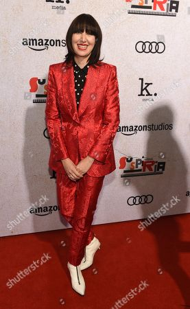 """Stock Image of Karen O poses at the premiere of the film """"Suspiria"""" at the ArcLight Hollywood, in Los Angeles"""