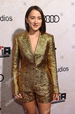 """Zelda Williams poses at the premiere of the film """"Suspiria"""" at the ArcLight Hollywood, in Los Angeles"""