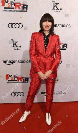 """Karen O poses at the premiere of the film """"Suspiria"""" at the ArcLight Hollywood, in Los Angeles"""