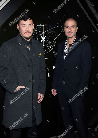 Doctor Woo, Zane Lowe. Doctor Woo, left, and Zane Lowe attend the 10th anniversary Pencils of Promise gala at the Duggal Greenhouse, in New York