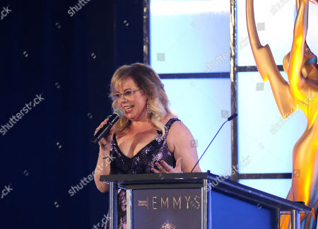 Kirsten Vangsness performs at the 70th Engineering Emmy Awards on in Los Angeles