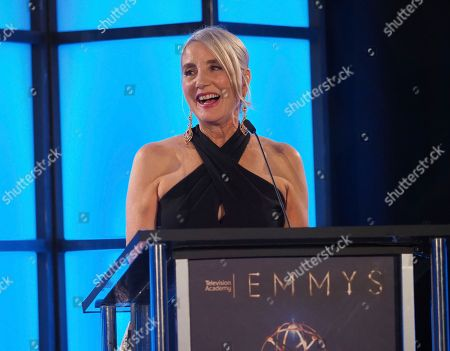Wendy Lynn Aylsworth, CEO of Walden Pond and President of UltraViolet, accepts The Charles F. Jenkins Lifetime Achievement Award at the 70th Engineering Emmy Awards on in Los Angeles