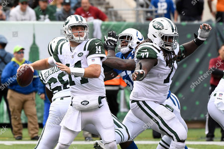 Editorial picture of Colts Jets Football, East Rutherford, USA - 14 Oct 2018